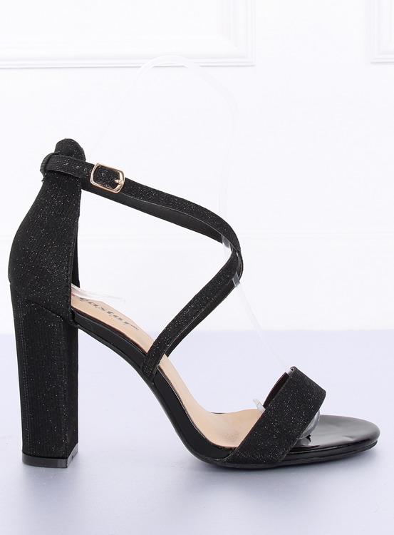 Sandałki na słupku czarne NC791 BLACK