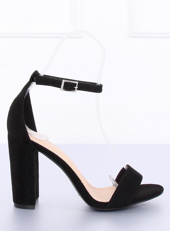 Sandałki na słupku czarne Y2385-27 BLACK