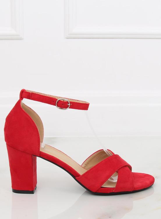 Sandałki na słupku czerwone FH-3M26 RED