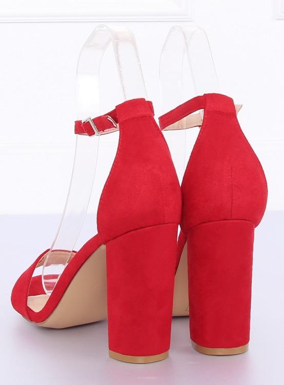 Sandałki na słupku czerwone Y2385-27 RED