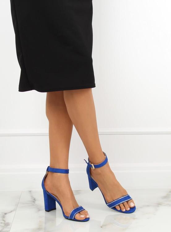 Sandałki na słupku kobaltowe A8020 NAVY