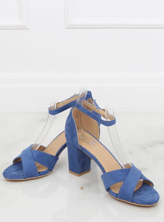 Sandałki na słupku niebieskie FH-3M26 BLUE