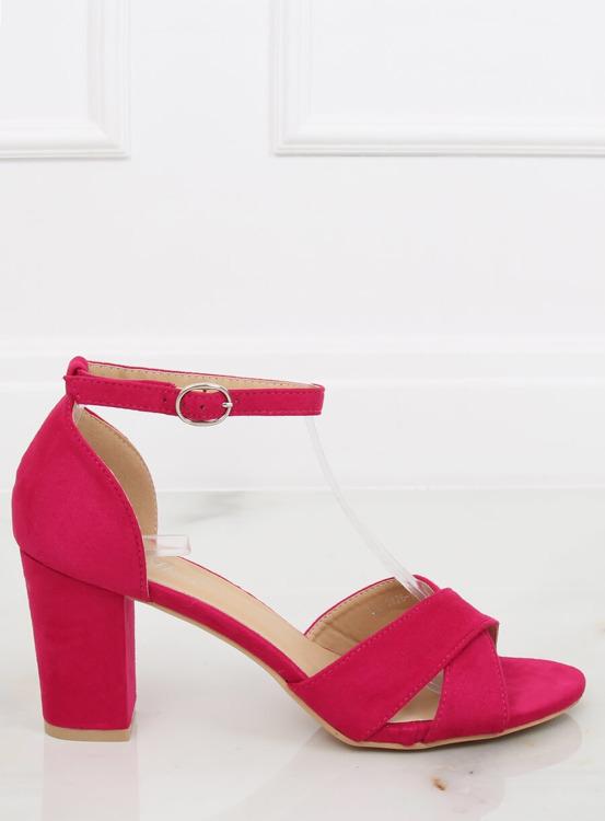Sandałki na słupku różowe FH-3M26 FUCHSIA
