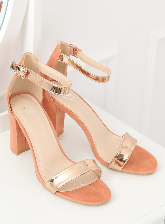 Sandałki na słupku różowe GF-WL-35 PINK