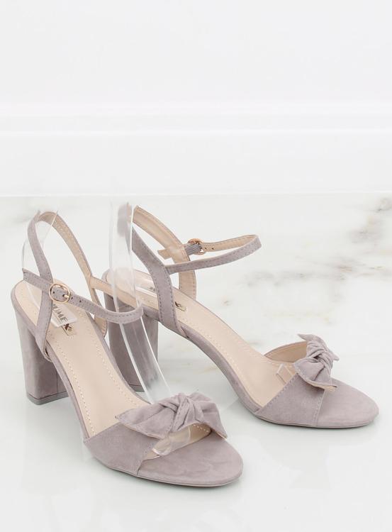 Sandałki na słupku szare GH1508 GREY