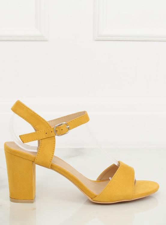 Sandałki na słupku żółte FH-3M25 YELLOW