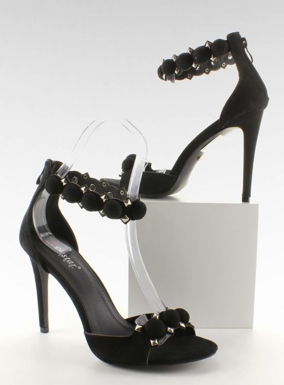 Sandałki na szpilce Funny balls LE022 Black