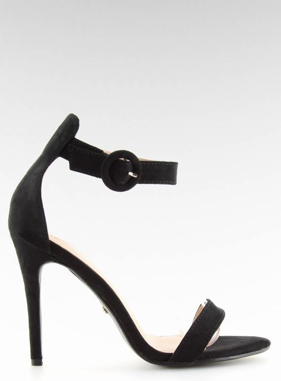 Sandałki na szpilce czarne NF-17 BLACK