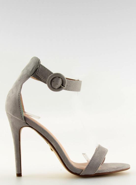 Sandałki na szpilce szare NF-17 GREY