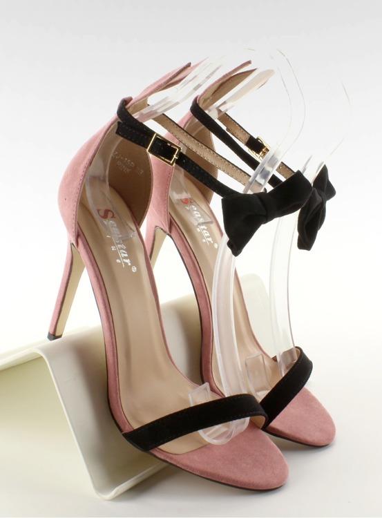Sandałki na szpilce z uszkami ZJ-15P Pink - II GAT
