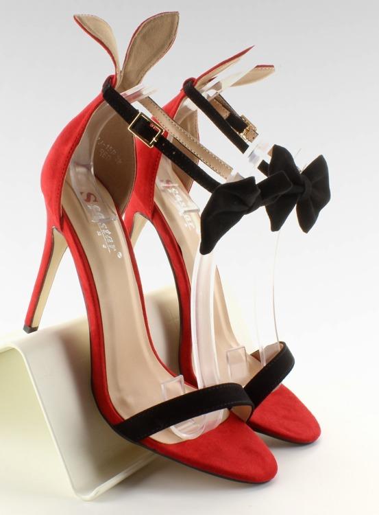 Sandałki na szpilce z uszkami ZJ-15P Red