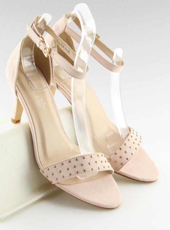 Sandałki na wygodnym obcasie różowe BL0764 PINK