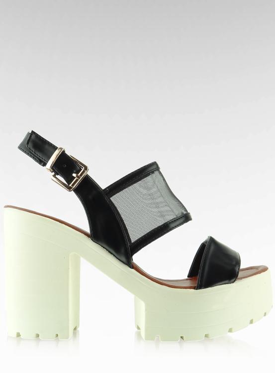 Sandałki na wysokiej podeszwie LX03 Black