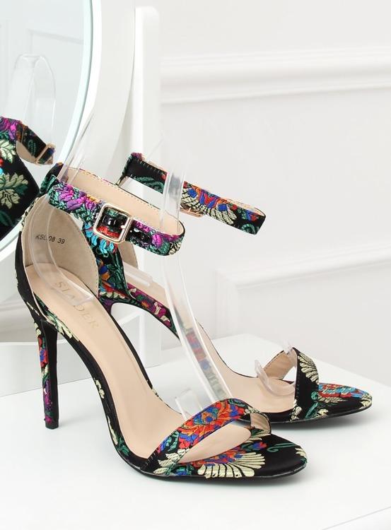 Sandałki orientalne czarne KSL708 BLACK