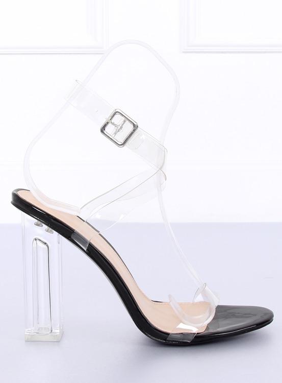 Sandałki transparentne 17-26B BLACK
