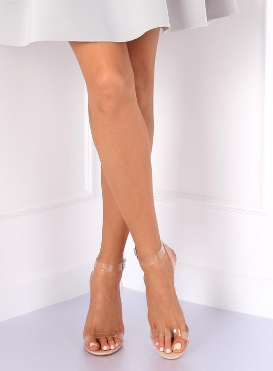 Sandałki transparentne 17-26B NUDE