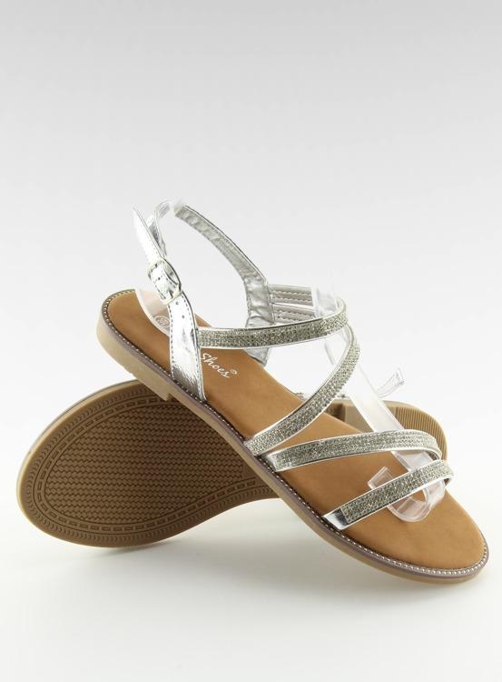 Sandałki z cyrkoniami srebrne K952 SILVER