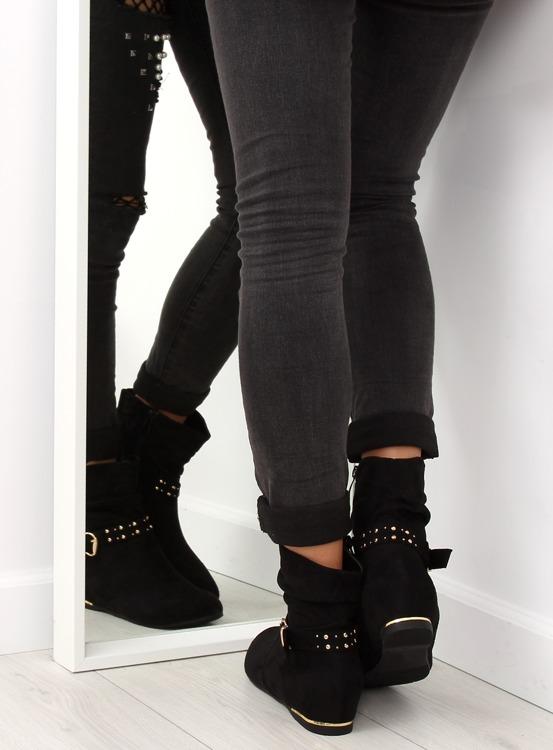 Saszki damskie czarne J87 BLACK