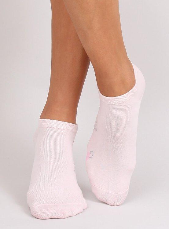 Skarpetki stopki damskie z flamingami SK-NDX5982 RÓŻOWY