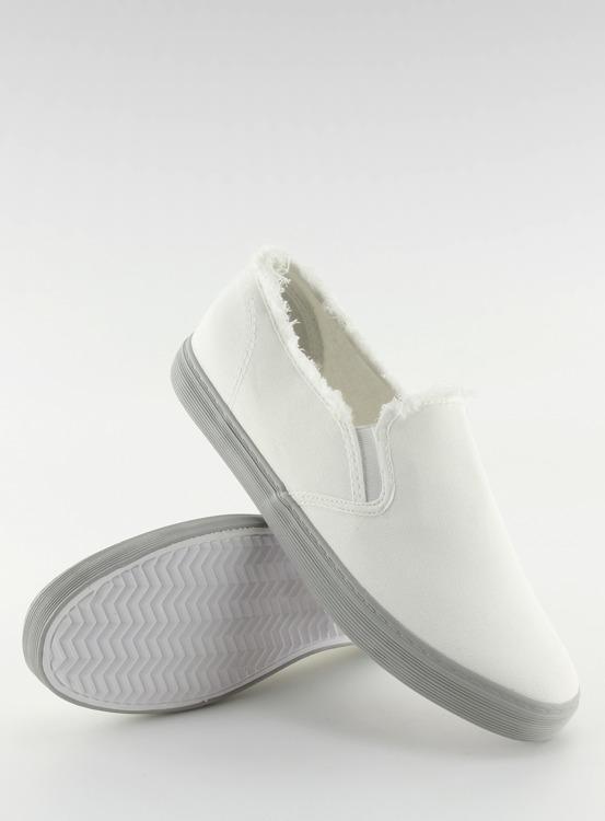 Slipony damskie białe NB166 WHITE