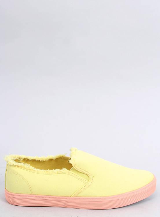 Slipony damskie żółte NB166 YELLOW