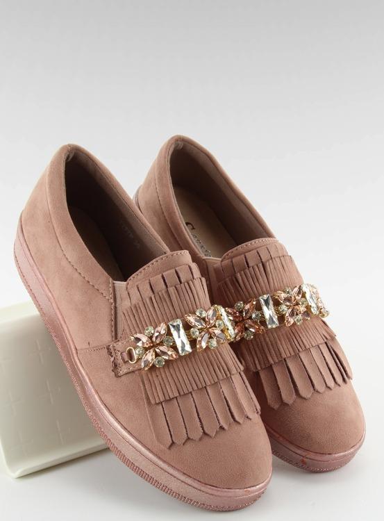Slipony na perłowej podeszwie t277p Pink