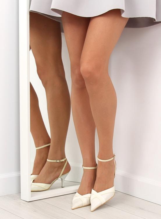 Ślubne czółenka 8650-2 white