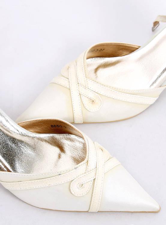 Ślubne czółenka 8650-3 WHITE