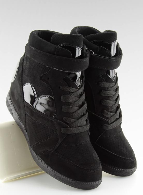 Sneakersy damskie czarne 1542 BLACK