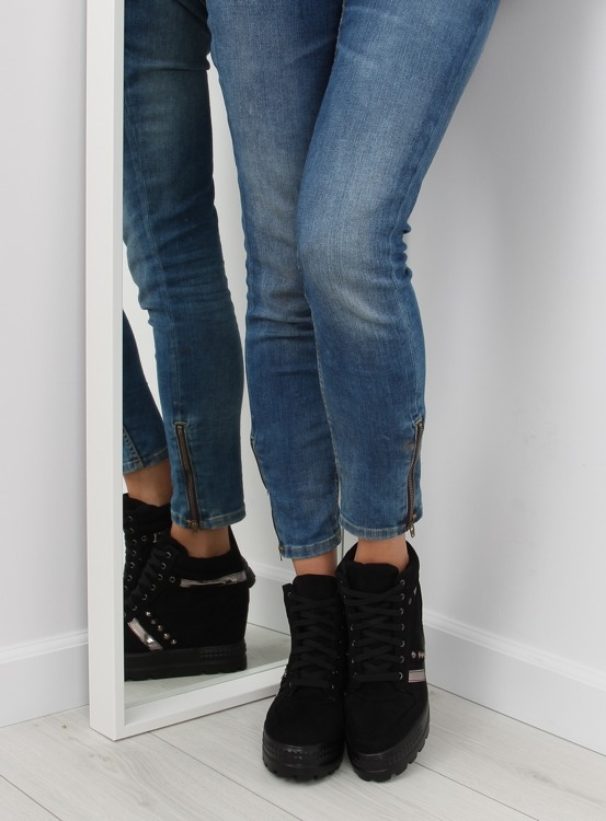 Sneakersy damskie czarne AT-0650-L BLACK