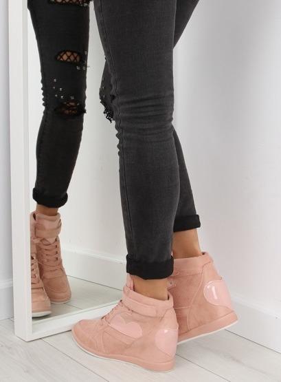 Sneakersy damskie różowe 1542 PINK