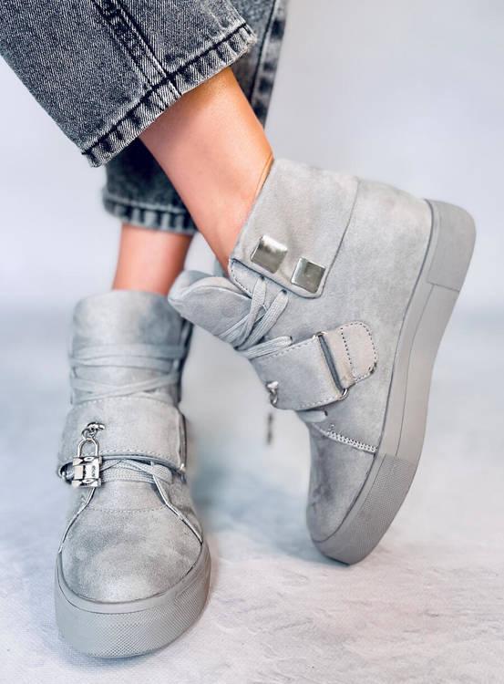 Sneakersy damskie szare NC158 GREY