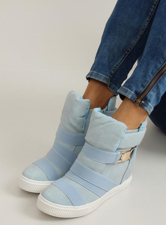 Sneakersy z gumowymi paskami AF24 BLUE