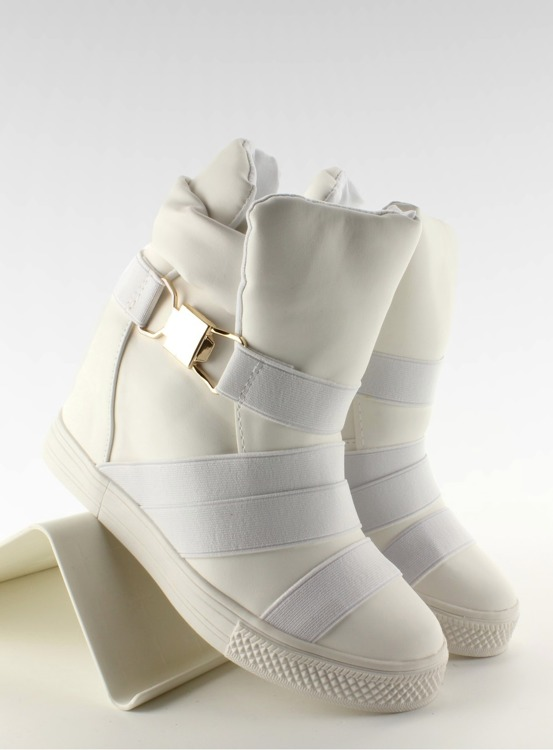 Sneakersy z gumowymi paskami AF24 WHITE