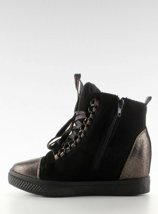 Sneakersy z łańcuszkami R72 Black