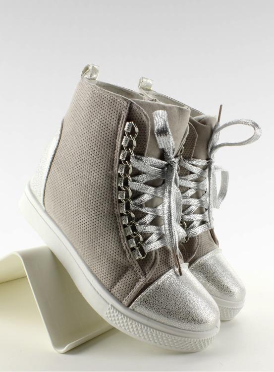 Sneakersy z łańcuszkami R72 Grey3 / Silver