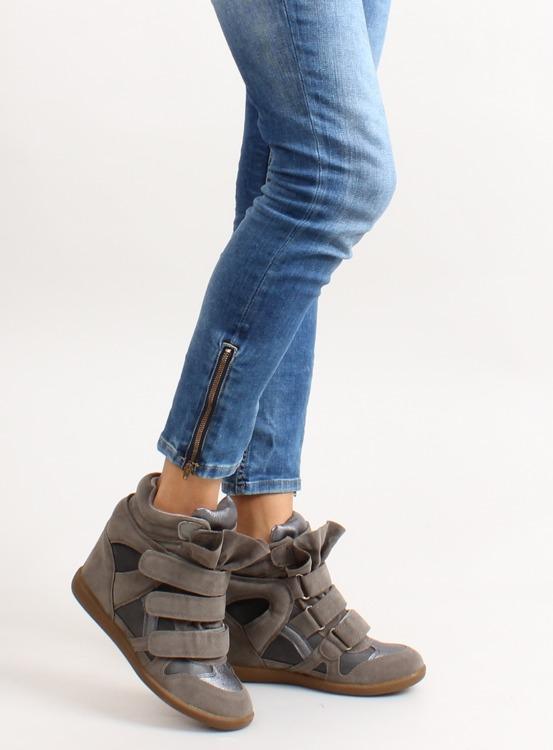 Sneakersy zamszowe 6040 D. Grey