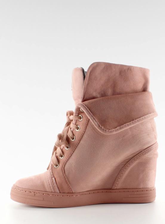 Sneakersy zamszowe B12-22 Pink