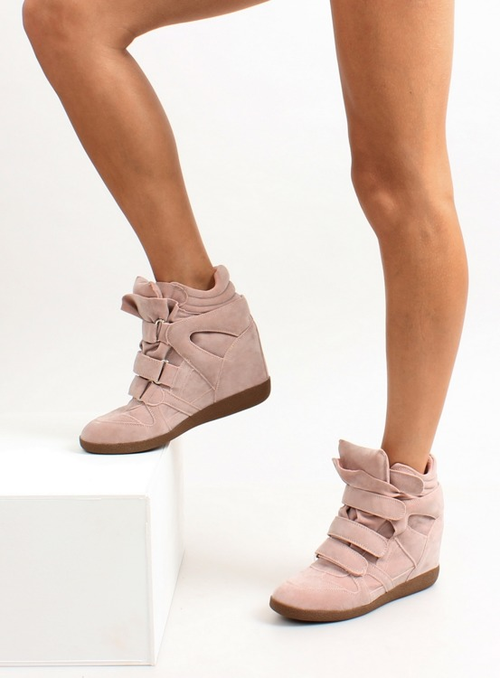 Sneakersy zamszowe JT19 Pink