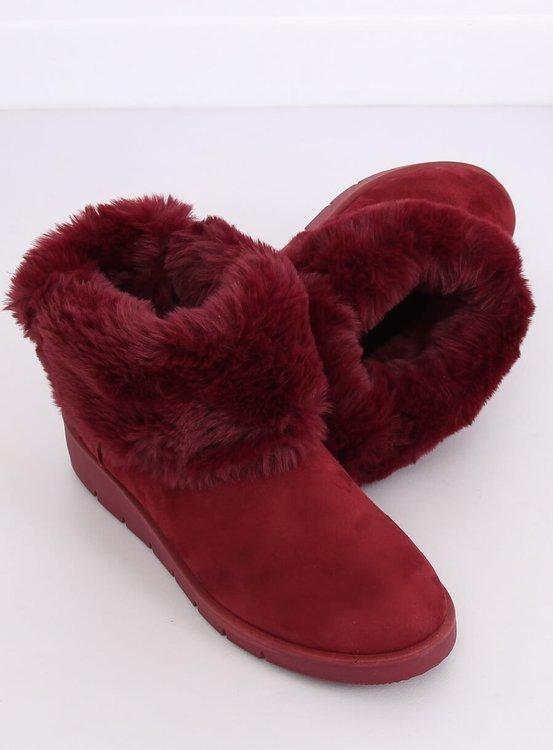 Śniegowce damskie bordowe A-3 WINE RED
