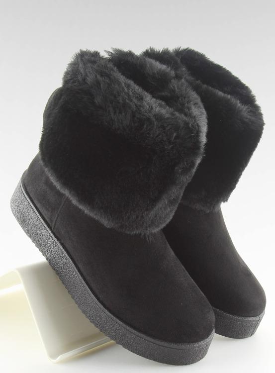Śniegowce damskie czarne LV58 BLACK