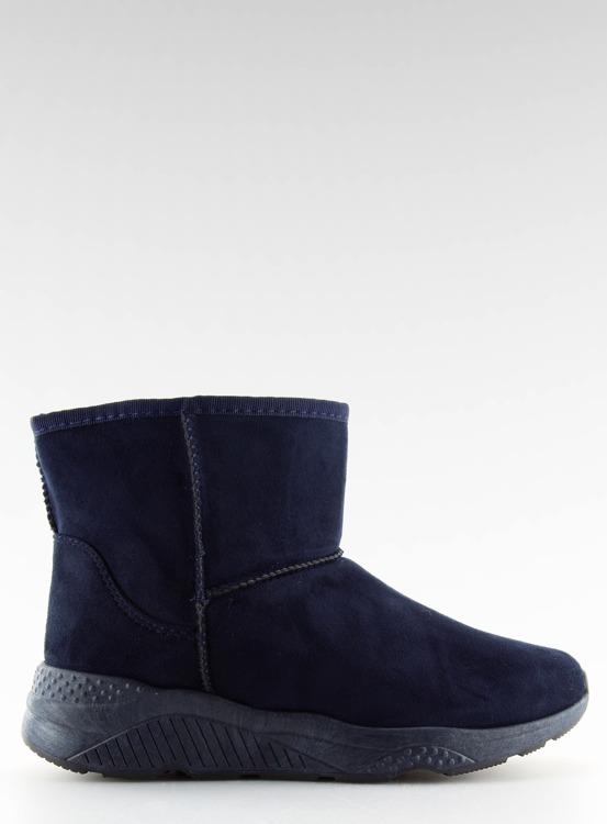 Śniegowce damskie granatowe D009 BLUE