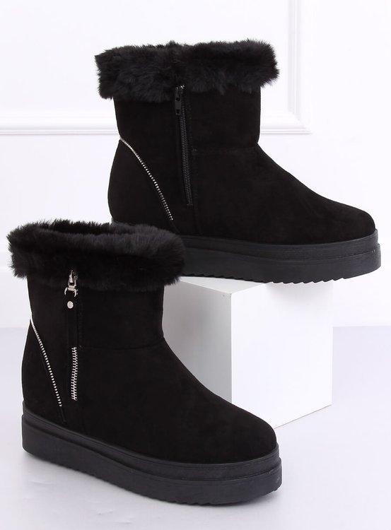 Śniegowce na futerku czarne PP-30 BLACK
