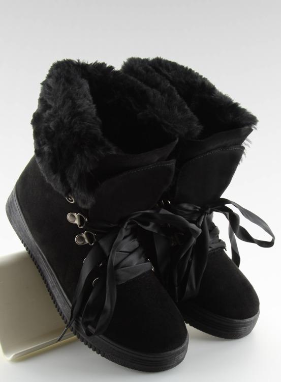 Śniegowce traperki czarne GF-179 BLACK