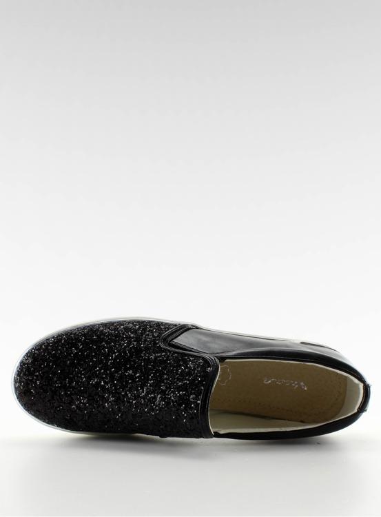 Stylowe slipony eleganckie 788-26 Czarny