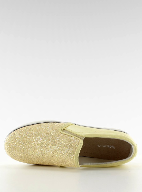 Stylowe slipony eleganckie 788-26 Yellow