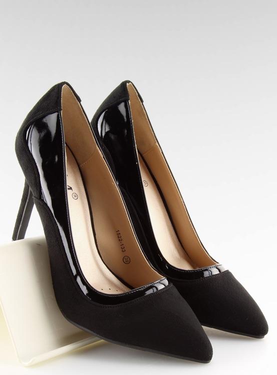 Szpilki damskie czarne 1522-133 BLACK