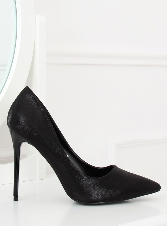 Szpilki damskie czarne AT-0596-L BLACK