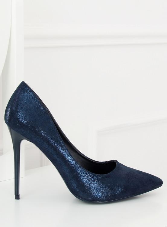 Szpilki damskie granatowe AT-0596-L BLUE