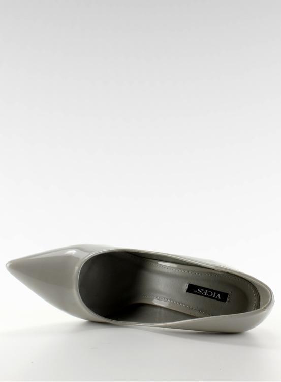Szpilki lakierowane gładkie E396 Grey